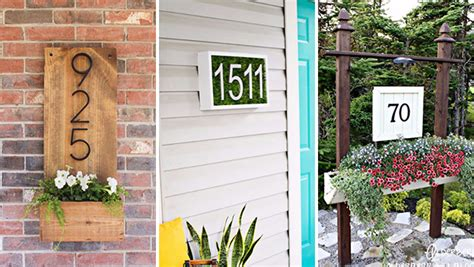 15 Creative Ways To Display Your House Number With Diy