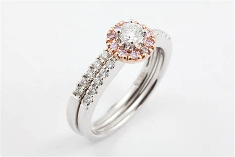 15 Best Collection Of Pink Diamond White Gold Engagement Rings