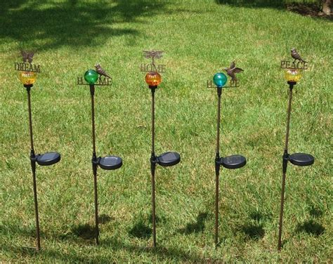 decorative garden stake solar powered decorative lights garden stakes choose home