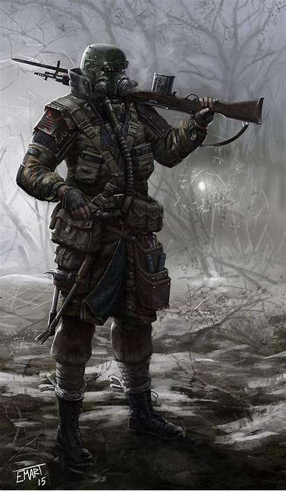 Apocalypse Apocalyptic Concept Sci Fi Characters Gun