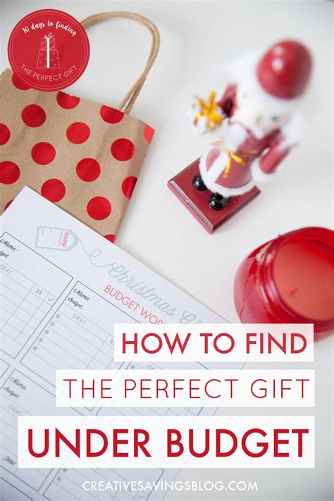 find gifts under budget christmas list ideas printable