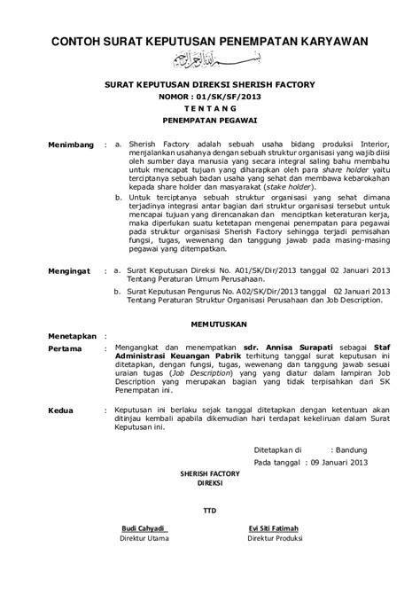Contoh Surat Permintaa by Contoh Format Perubahan Surat Keputusan Contoh Format