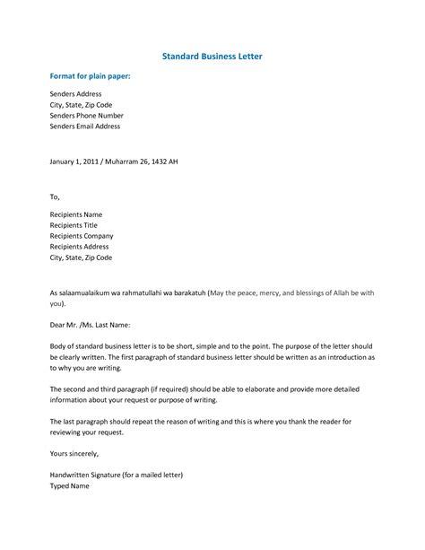 standard official letter format letters  sample
