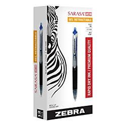 Office Depot Zebra Pens by Zebra Sarasa Se Retractable Gel Pens Medium Point 0 7 Mm