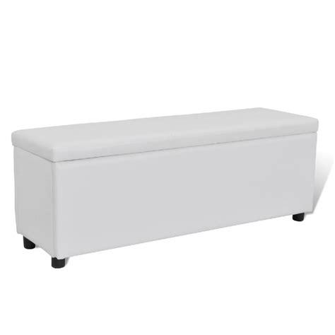 banc coffre de rangement blanc banc banquette coffre de rangement 120 cm blanc