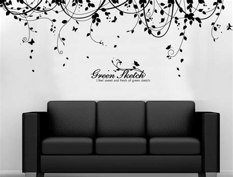 wall mural decals vinyl vine vinyl wall decals wallstickery