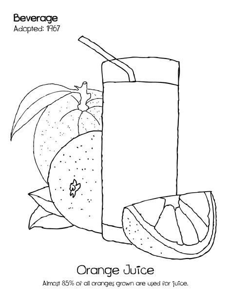 Coloring Juice by Coloring Orange Juice Coloring Pages