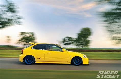 Modified Honda Civic Wallpapers by 2000 Honda Civic Type R Cars Yellow Modified Wallpaper