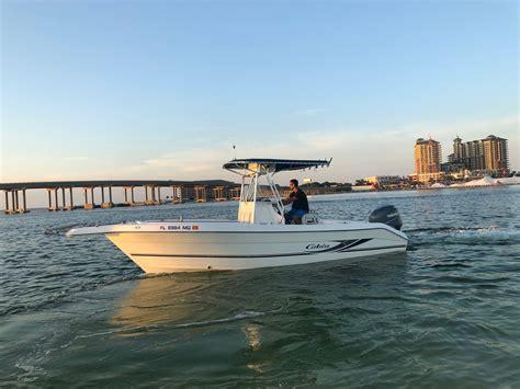 boat fishing rentals destin boats coast emerald cobia console center