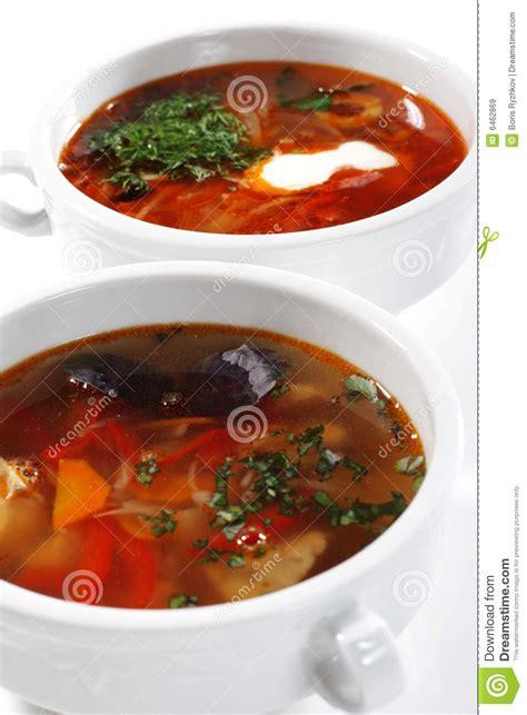 poissons cuisine potage russe de solyanka de poissons de cuisine image