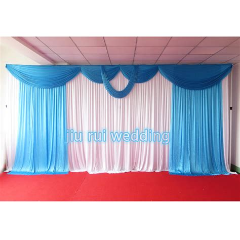 swag ls for sale blue stage curtains promotion shop for promotional blue