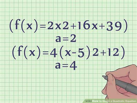 how to graph a quadratic equation 10 steps with