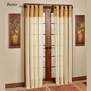 Geneva semi sheer grommet curtain panels for Grommet curtains with sheers