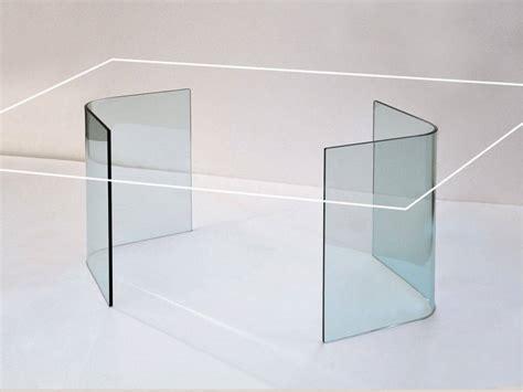 Basi Per Tavoli In Cristallo basi in vetro curvato per tavolo in vetro libro