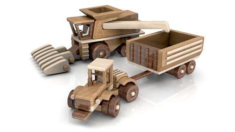wood toy plans big john farm tractor trailer combine