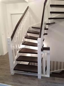 Handlauf Für Treppe : tischlerei neumann eingestemmte treppe aus buche handlauf und stufen dunkel gebeizt treppen ~ Markanthonyermac.com Haus und Dekorationen