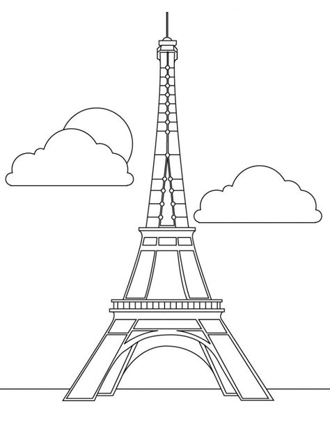 eiffel tower color free printable eiffel tower coloring pages for