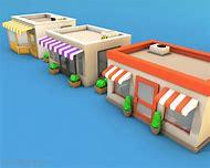 Low Poly 3D Models Building