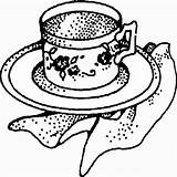 Coloring Pages Tea Party Beast Beauty Site sketch template
