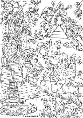 land  fantasia fantasy garden printable adult