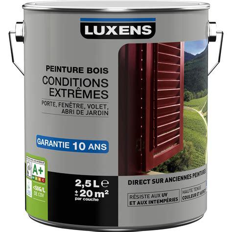 peinture glycero brico depot resine peinture bois extérieur conditions extrêmes luxens blanc