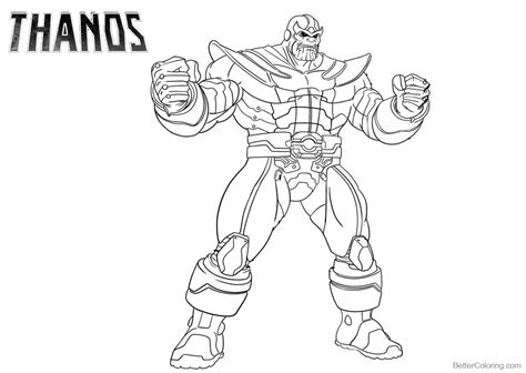 disegni da colorare thanos marvel thanos coloring pages free printable coloring pages