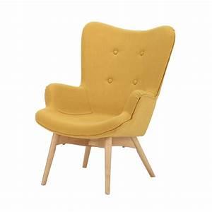 Fauteuil Scandinave Tissu : fauteuil scandinave enfant en tissu jaune iceberg maisons du monde ~ Teatrodelosmanantiales.com Idées de Décoration