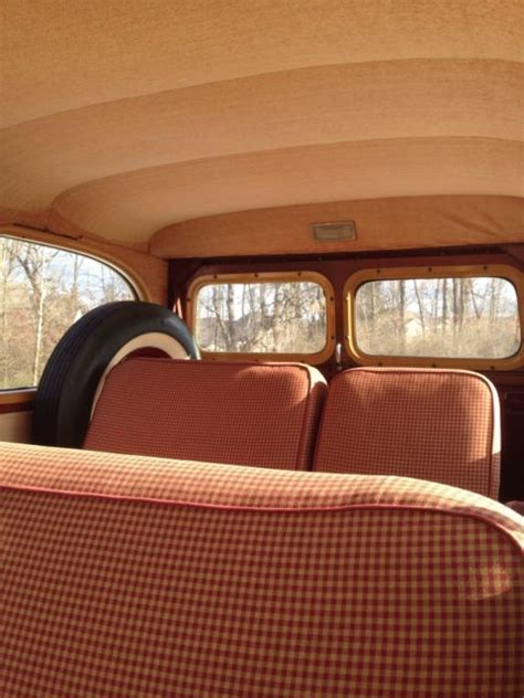 jeep burgundy interior seller of classic cars 1947 willys jeep station wagon