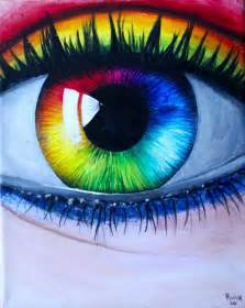 Rainbow Eye Painting