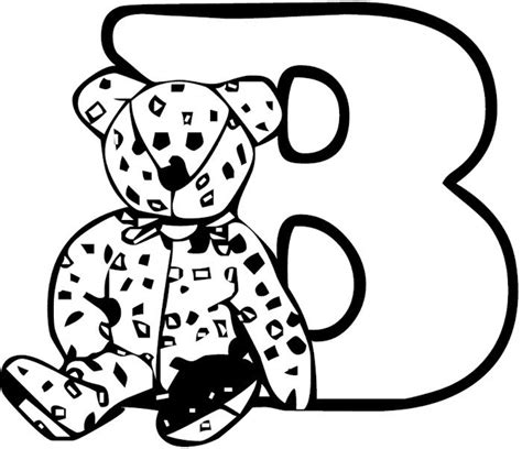 letter b coloring pages preschool and kindergarten 176 | letter coloring page b