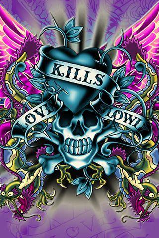 love kills  ed hardy ed hardy pinterest skull ed