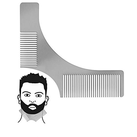 beard shaping template beard shaping tool template zdu stainless steel beard shaper and styling comb stencil for line