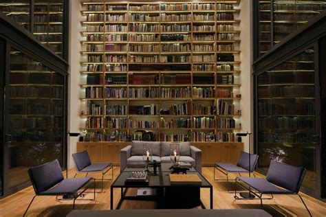 Living Room Library by A House With 4 Courtyards Includes Floor Plans