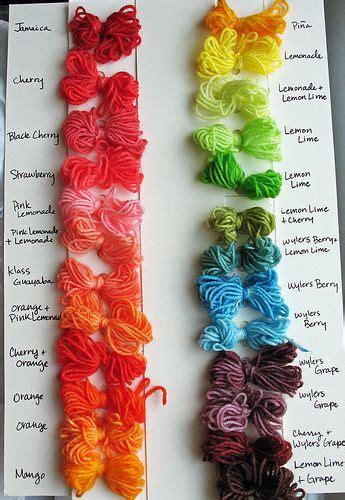 Kool Aid Yarn Color Chart Natural Hair Dye Kool Aid
