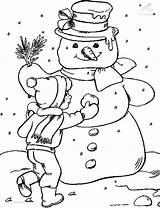 Coloring Snow Coloringpage Winter 1001coloringpages Season sketch template