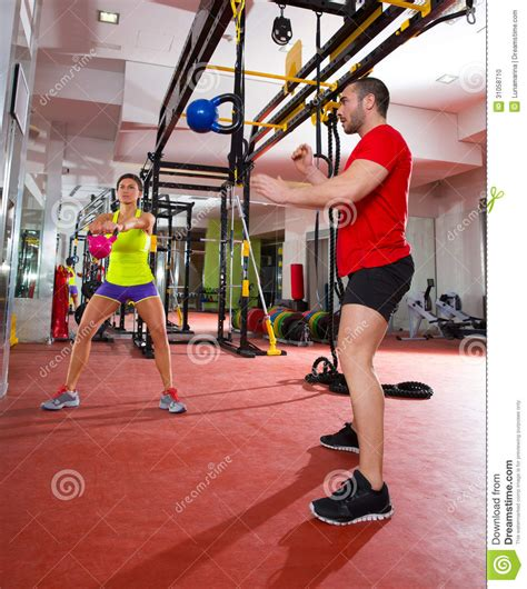 crossfit swing crossfit fitness kettlebells swing exercise workout at