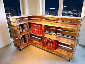 Bar Aus Holzpaletten : kellerbar bauen bar aus paletten cool hausbar selber theke ~ A.2002-acura-tl-radio.info Haus und Dekorationen