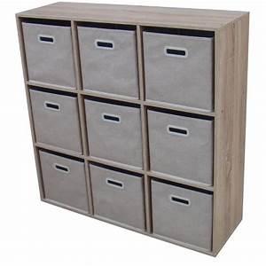 Meuble 9 Cases Ikea : meuble de rangement avec panier conceptions de maison ~ Dailycaller-alerts.com Idées de Décoration