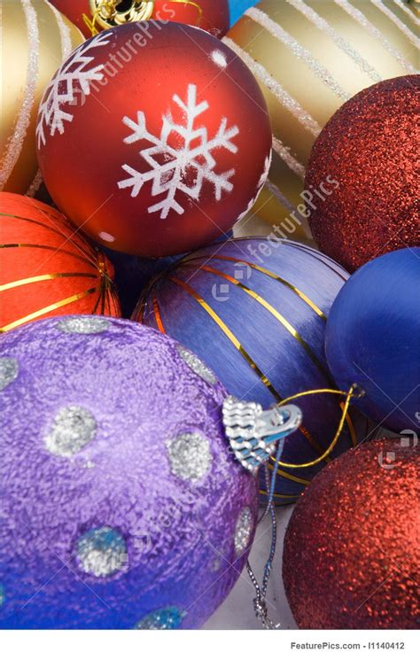Holidays Colorful Christmas Balls  Stock Picture