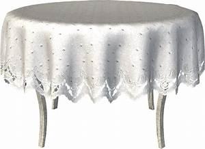 Nappe Blanche Ronde : nappe blanche sur table ronde ~ Teatrodelosmanantiales.com Idées de Décoration