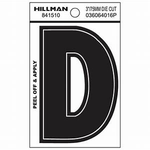 Shop hillman 3 in black house letter d at lowescom for House letters lowes