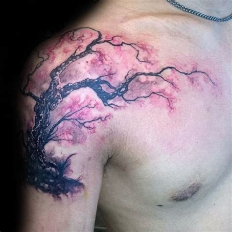 cherry blossom tattoo designs  men floral ink ideas