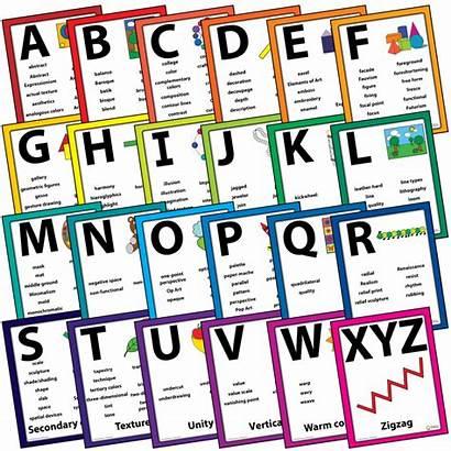 Alphabet Vocabulary Word Wall Words Artist Resources