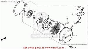 Honda 70 Atc Recoil Starter Parts Diagram  Honda  Auto