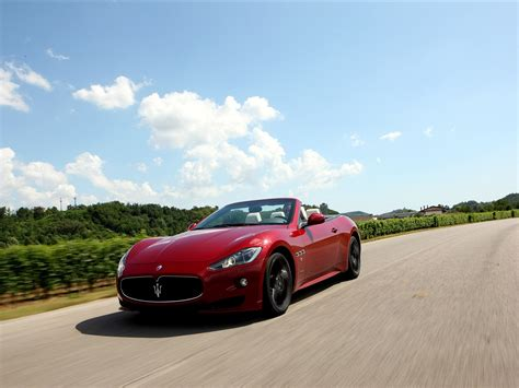 Wallpaper Maserati Grancabrio Sport, Car, Speed, Red