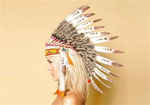 Hat: indian, native, american, feathers, headdress ...