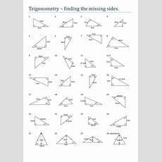 Trigonometry Worksheets Clipground