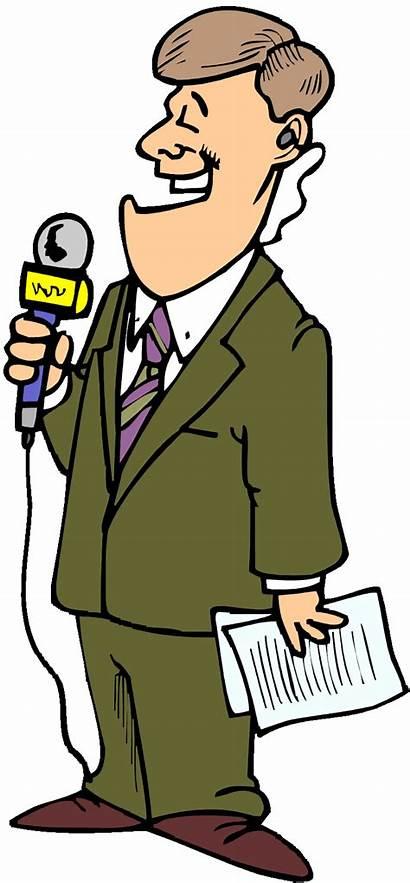 Reporter Clipart Tv Journalist Cartoon Newspaper Cliparts