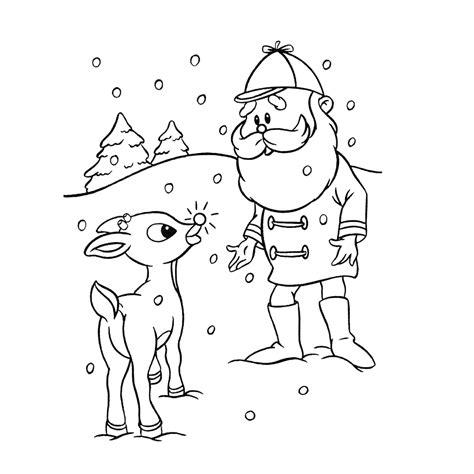 Kleurplaat Rendier Rudolf by Leuk Voor De Kerstman Met Rudolf