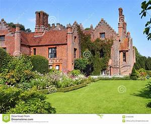 A Medieval English Manor And Garden Royalty Free Stock ...